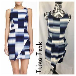 Trina Turk Abstract Summit Wrap Skirt Dress